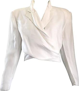 Claude Montana White Linen Avant Garde Vintage Cropped Wrap Jacket 3a1d5c8c8