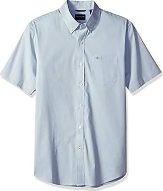 Dockers Mens Short Sleeve Button Down Comfort Flex Shirt, Trellis Solid 2X-Large