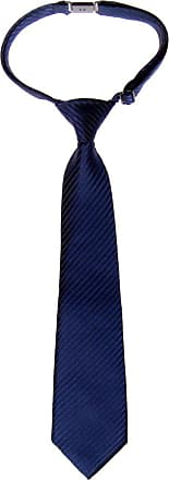 Retreez Woven Pre-tied Boys Tie with Stripe Textured - Navy Blue - 4-7 years