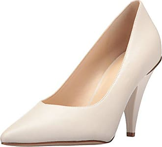 Nine West Womens Whistles Leather Pump, Off Off White, 10.5 Medium US