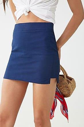 Forever 21 Forever 21 Corduroy Mini Skirt Navy