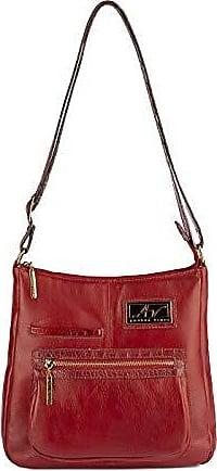 Andrea Vinci Bolsa tiracolo grande em couro Denise vermelha
