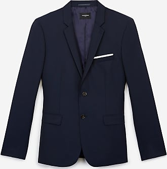 The Kooples Slim-fit navy blue formal wool jacket - MEN