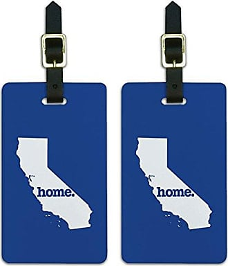 Graphics & More Graphics & More California Ca Home State Luggage Suitcase Id Tags-Solid Navy Blue, White