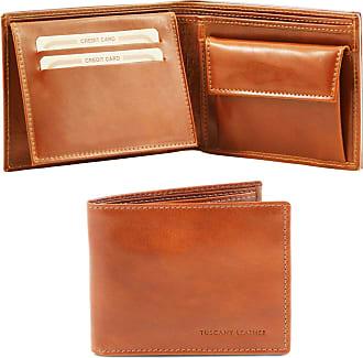 e4bfbfd534 Tuscany Leather Esclusivo portafoglio uomo in pelle 3 ante con  portaspiccioli Testa di