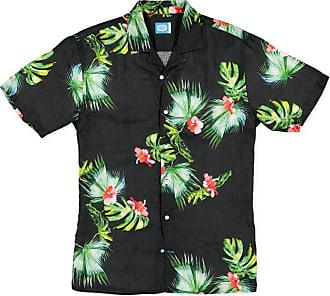 Panareha HONOLULU Hawaiian Linen Aloha Shirt black