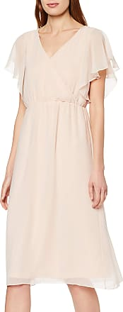 Vila Womens Viflara S/s Dress/dc, Pink (Rose Smoke Rose Smoke), 10 (Size: 36)