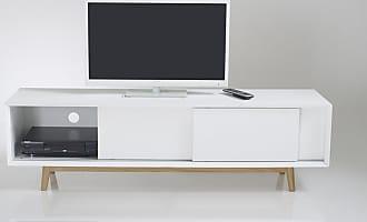 La Redoute Interieurs TV-Schrank Jimi mit 3 Schiebetüren, Vintage-Stil - WEISS - LA REDOUTE INTERIEURS