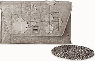 MQaccessories Envelope in Cervocalf Leather with Buttercup Embellishment