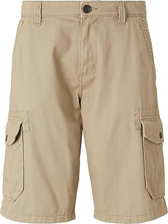 Tom Tailor Morris Relaxed Bermuda Cargo-Shorts, Herren, Chinchilla, Größe: 33