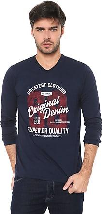 Malwee Camiseta Malwee Estampada Azul-marinho