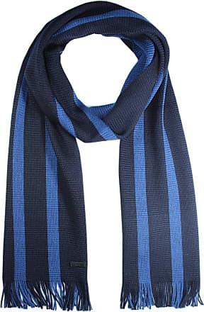 BOSS Hugo Boss Mens Knitted Scarf, Brunori, 100 % Wool - Blue - One Size
