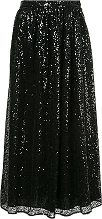 Ingie Paris flared sequin skirt - Preto