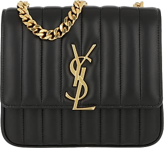 5960c082a45 Saint Laurent Vicky Matelassé Crossbody Bag Matte Medium Black Tasche zwart