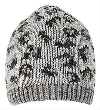 Dents Dove Grey Animal Print Beanie Hat One Size
