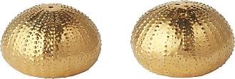 Aerin Sea Urchin Ceramic Salt & Pepper Shakers - Gold