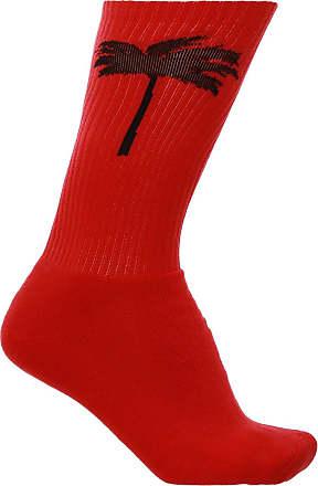Palm Angels Patterned Socks Mens Red