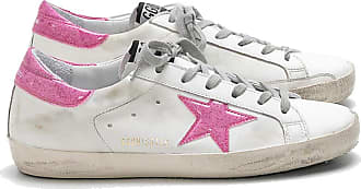 Golden Goose Womens Trainers Sneakers Leather GGDB Casual Shoes Super Star Slide Dark Pink