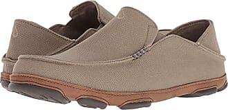Olukai Moloa Kapa (Charcoal/Dark Wood) Mens Shoes