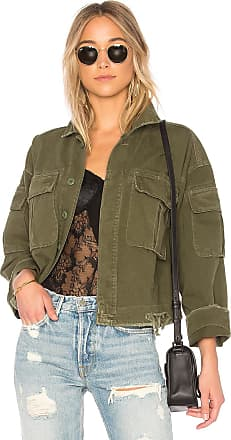 GRLFRND Dorian Oversized Crop Army Jacket in Green