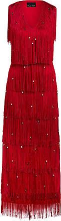 Phase Eight Kleid KANDICE mit Fransen - DUNKELROT