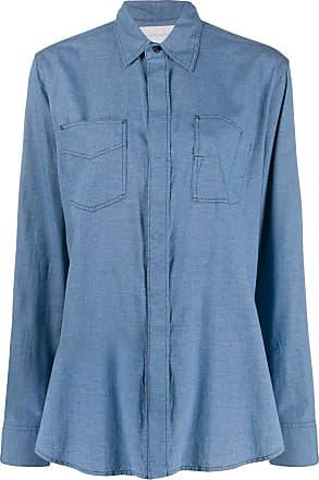Fumito Ganryu Camisa com pespontos - Azul