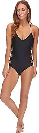 5f80961b6041 Body Glove Womens Smoothies Crissy Solid One Piece Swimsuit with Strappy  Side Detail, Black,