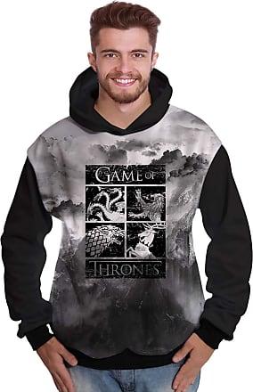 Di Nuevo Blusa de Moletom Brasões Reinos Game of Thrones GOT