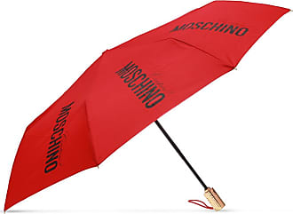 Moschino Folding Umbrella With Logo Womens Red