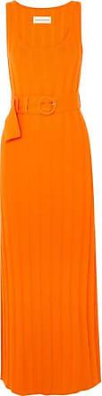 Mara Hoffman Harlow Belted Ribbed Organic Cotton Maxi Dress - Orange
