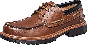 Daytwork Mens Lightweight Lace ups Shoes - Casual Slip On Moccasins Soft Comfort Smart Work Derbys Walking Sneaker Loafer Boat Black