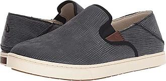 Olukai Kahu Kai (Dark Shadow/Off-White) Mens Slip on Shoes