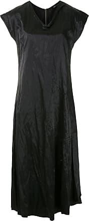 Uma Belize Kleid mit Knitteroptik - Schwarz