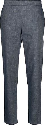 Fabiana Filippi high-rise cropped chambray trousers - Blue
