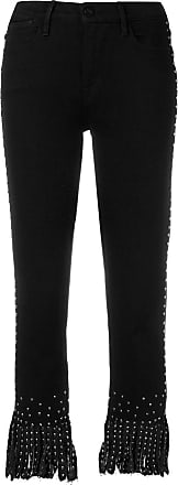 Frame Denim Calça jeans cropped Le High - Preto