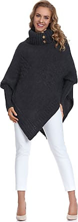 Merry Style Womens Poncho Moena (Graphite, One Size)