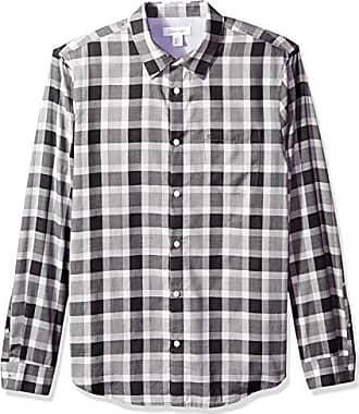 Mens Long Sleeve Plaid Checkered Button Down Casual Dress Shirts Green X-Large