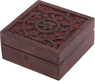 Novica 304443 Decorative Boxes, Brown