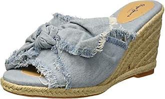 0dedb172 Pepe Jeans London Shark Bow, Sandalias con Plataforma para Mujer, Azul  (513sky 513