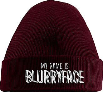 HippoWarehouse My Name is Blurryface Embroidered Beanie Hat Maroon