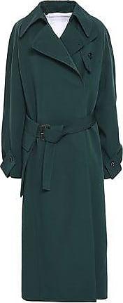 589361c29736 Joseph Joseph Woman Double-breasted Virgin Wool-gabardine Trench Coat  Emerald Size 38