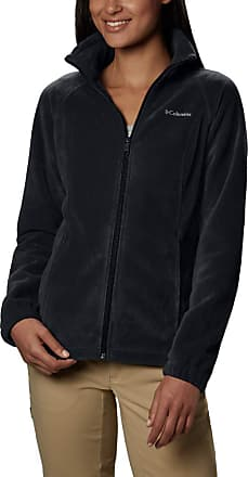 Columbia Womens Benton Springs Classic Fit Full Zip Soft Fleece Jacket, Black, X-Small