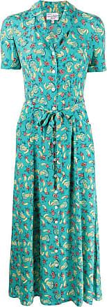 HVN Vestido com estampa de frutas - Azul