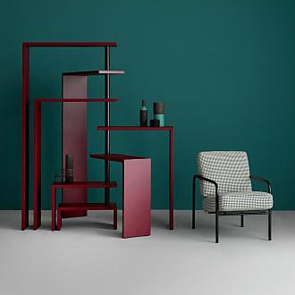 ZANOTTA Design Susanna Armchair Black Frame & Grey Houndstooth