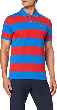 GANT Mens D1.Contrast Barstripe Ss Pique Polo Shirt, Blue (Nautical Blue 422), Xx-Large