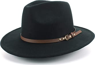 Hawkins Fedora Hat with Faux Leather Band - Black (59cm)