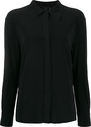 Norma Kamali long sleeve loose fit blouse - Black