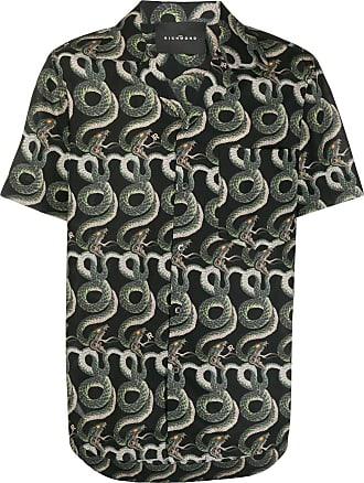 John Richmond Camisa com estampa pele de cobra - Preto