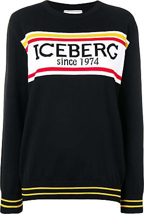 Iceberg logo knitted jumper - Black