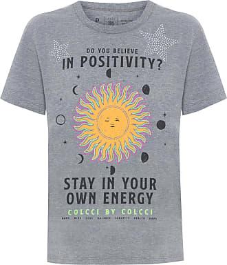 Colcci Camiseta Estampada Com Aplicação Stay Home - Cinza